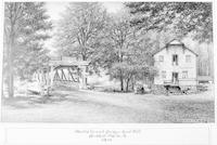 The Old Covered Bridge - Grist Mill, Bushkill, Pike Co. Pa. 1890