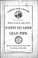 Willard & Shaw's improvements in the construction of pipe, for conducting water and liquids for domestic use