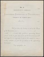 Massachusetts Commission to the Centennial Exhibition at Philadelphia, Boston, Massachusetts