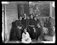 3500 Powelton Ave., group on the porch