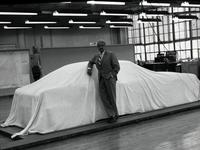 Raymond Loewy with covered Avanti